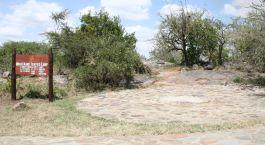 Entrance board at Mbuzi Mawe in Serengeti Central, Tanzania