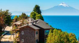 Außenansicht im Hotel Cabaña del Lago in Puerto Varas, Chile