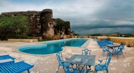 Swimming Pool in The Hill Fort Hotel Alwar India Tours