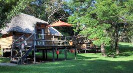Exterior view at Kubu Lodge Hotel, Chobe National Park in Botswana