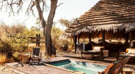 Pool at Camp Kalahari Hotel in Kalahari Salt Pans, Botswana