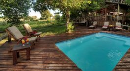 Pool at Little Kwara hotel, Okavango Delta, Botswana