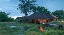 Exterior view at Lebala Camp in Okavango Delta, Botswana