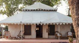Zeltunterkunft im Ahilya Fort in Maheshwar Indien