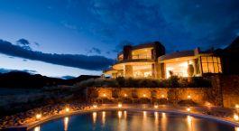 Exterior view of Sossusvlei Desert Lodge Hotel in Sossusvlei, Namibia