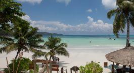 Strandaussicht von Hotel  Le Duc De Praslin in Praslin Island, Seychellen