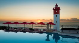 Pool with ocean view at Oyster Box Hotel & Spa in Durban, South Africa