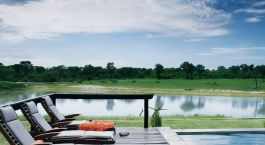 Terrasse im Arathusa Safari Lodge in Kruger, Südafrika