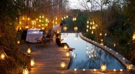 Enchanting Travels - South Africa tours - Kruger -Londolozi Pioneer Camp - Pool Dining