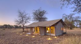 Exterior view of a guest tent at Ubuntu Camp N Hotel in Serengeti (Northern), Tanzania