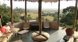 Terrace at Lamai Serengeti Main Camp Hotel in Serengeti (North), Tanzania