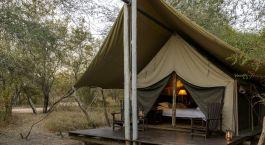 Deluxe camping room at Rhino Safari Camp Lake in Kariba & Matusadona, Zimbabwe
