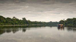 Boat ride at Posada Amazonas in Puerto Maldonado, Peru