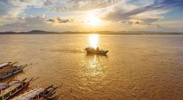 Ayeyarwady Fluss in Myanmar