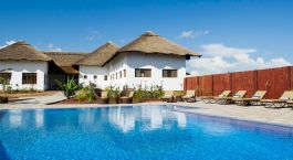 Pool view of Farm House Valley Lodge in Arusha, Tanzania