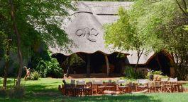 Exterior of Ivory Lodge in Hwange, Zimbabwe, Africa