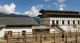 Exterior view of Gangtey Goenpa in Gangtey, Bhutan