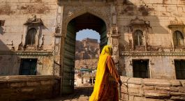 Entrance of Raas, Jodhpur in Rajasthan, North India