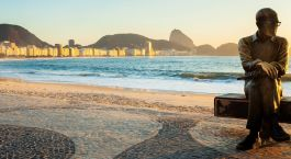 Beach by Miramar Hotel by Windsor in Rio de Janeiro, Brazil