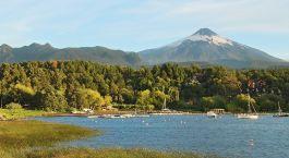 Villarica Vulkan und Bucht von Pucon