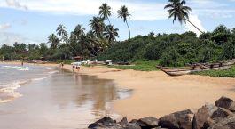 Strand von Negombo in Sri Lanka