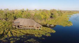 Das Moremi Crossing aus der Vogelperspektive
