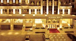 Eingang im Eldora Hotel, Hué, Vietnam