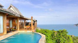 Pool at hotel Santhiya Resort in Koh Phangan, Thailand