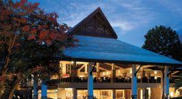 Exterior view of Shangri La Rasa Ria Resort & Spa Hotel in Kota Kinabalu, Malaysia