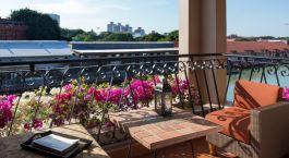 Balkonaussicht im Hotel Casa del Rio Melaka, Malacca, Malaysia