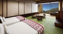 Room view at hotel Hakone Kowakien Tenyu in Hakone, Japan