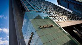 Außenansicht des Conrad Tokyo Hotel in Tokyo, Japan