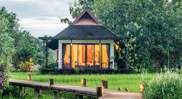 Außenansicht einer Gästevilla des Manee Dheva Resort & Spa, Mae Chan Hotel in Chiang Rai, Thailand