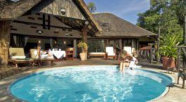 Privat pool at Victoria Falls Hotel, Victoria Falls, Zimbabwe