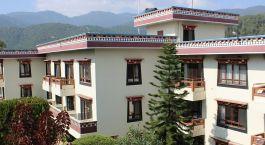 Exterior view of Neydo Hotel in Pharping, Nepal