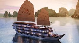Exterior view of Ginger Cruise Halong-Bay, Halong Bay in Vietnam