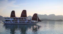Exterior view of Stella Cruise Halong Bay Hotel, Halong Bay in Vietnam
