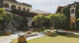 Außenanlage des Rawla Narlai Hotels in Narlai, Nordindien