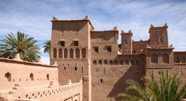Amridil Kasbah (castle) in the oasis of Skoura