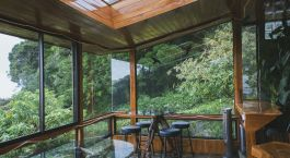 Lounge area at Hidden Canopy Treehouse in Monteverde, Costa Rica