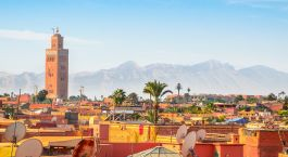 Enchanting Travels Morocco Tours Panoramic view of Marrakech and old medina, Morocco