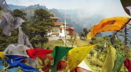 Bhutan Tourism - Prayer Flags in Thimphu