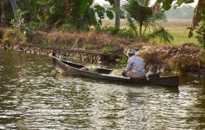 Man in Kerala Backwaters