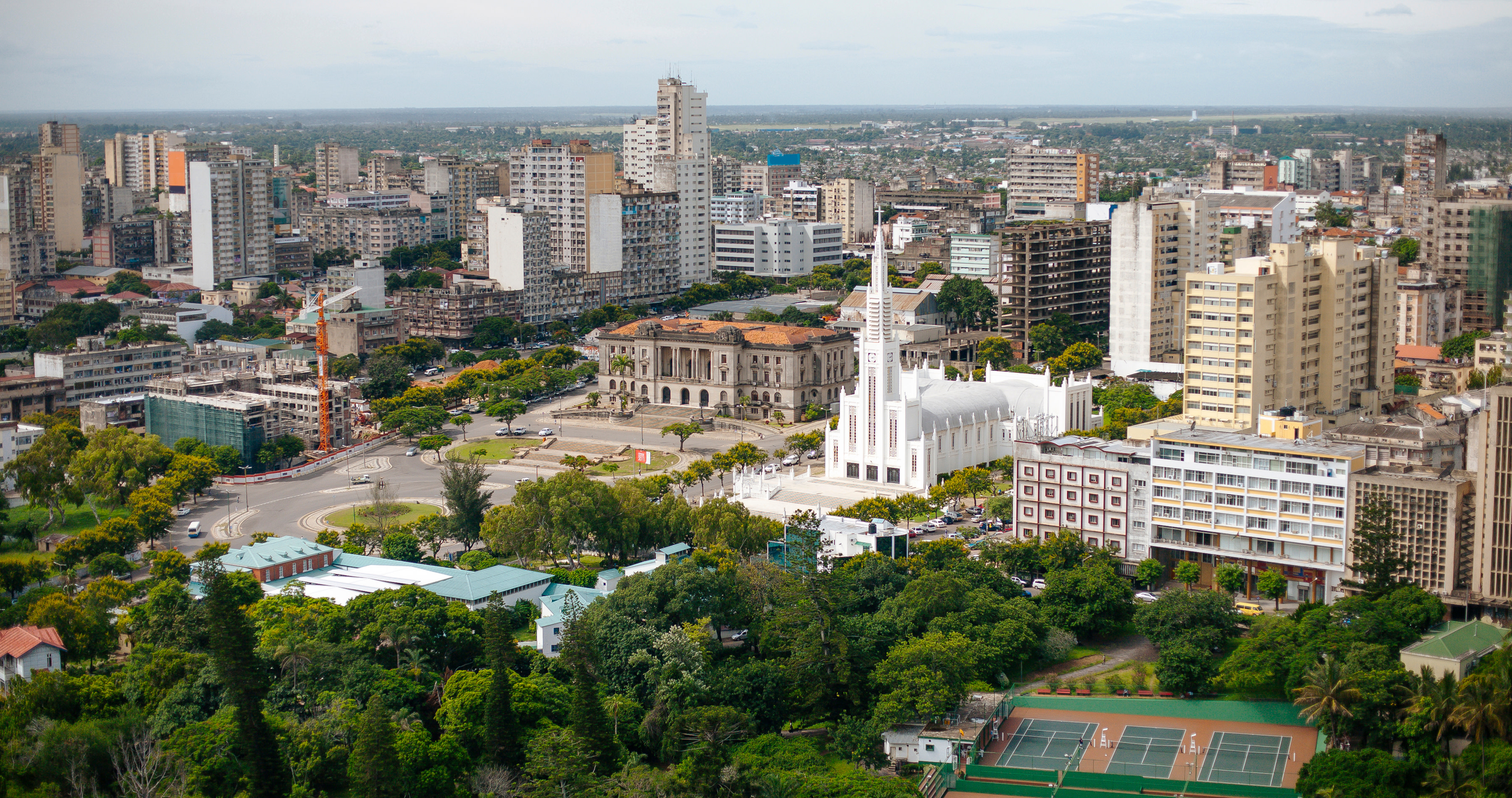 A view of Maputo the capital of Mozambique, Africa - Mozambique travel guide