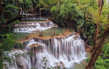 Kanchanaburi, Huay-Mae-Kamin-Wasserfall