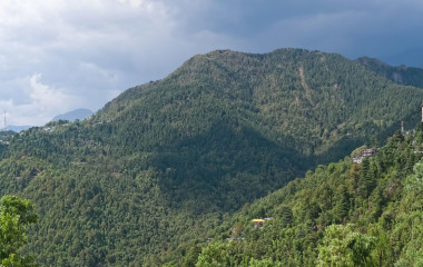 Wunderbares Bergpanorama in Dharamasala