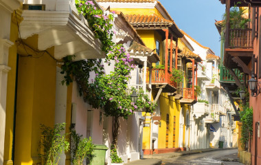 Colorful Cartagena streets Colombia Tours