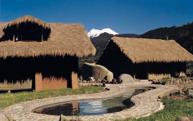 Exterior view of guest lodges at Papallacta Spa & Resort Hotel in Papallacta, Ecuador