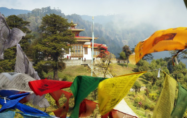 Bhutan Tourism - Prayer Flags in Thimphu - Bhutan travel