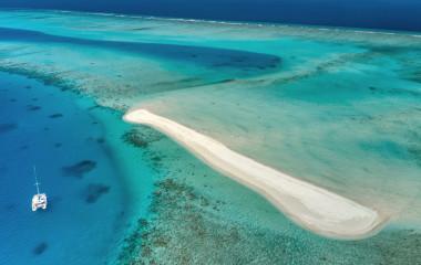 aerial photo of maldives atoll, Vaavu and South Male